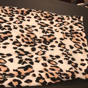 Small Charlotte Russe Cheetah mini Skirt